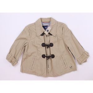 NWT American Eagle Crop Duffle Coat Jacket